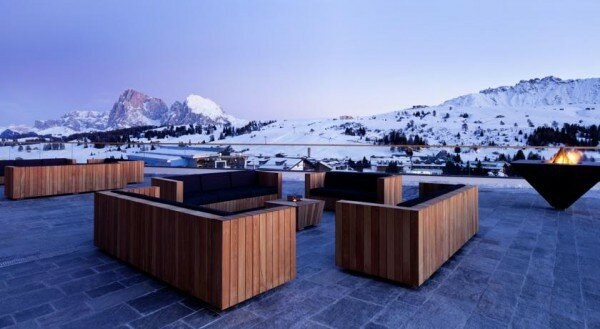 Alpina Dolomites террасса