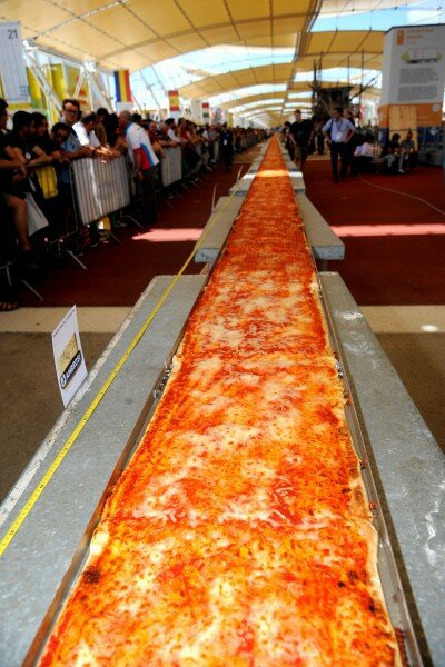 Pizza самая длинная в мире пицца