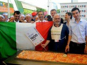 Самая длинная Пицца приготовлена в Милане