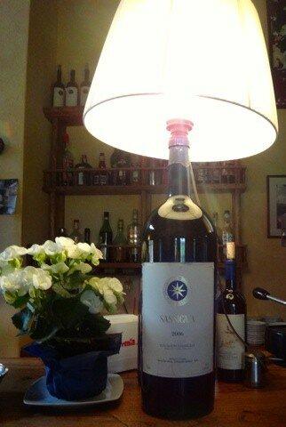 Bolgheri Sassicaia - лампа из трёхлитровой бутылки
