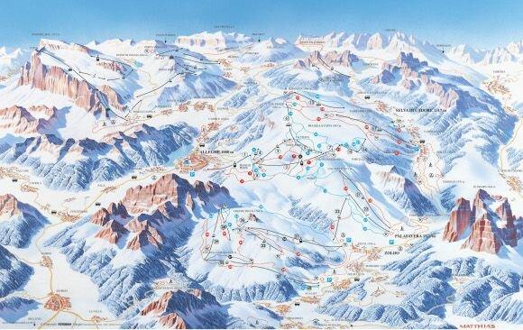 Ski Civetta - карта региона катания