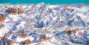 Схема горнолыжного курорта Валь ди Фасса