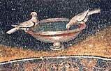 Голубки. Деталь мозаики в мавзолее Галлы Плацидии