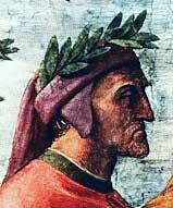 Фрагмент фрески Рафаэля Парнас. Данте Алигьери.  1510 г.