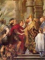 Ван Дайк Святой Амвросий и император Феодосий