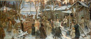 Н.А Шабунин — Отъезд А.В.Суворова из села Кончанского в поход 1799г.