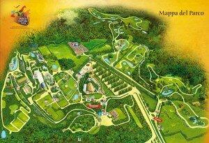 Parco Natura Viva - план территории